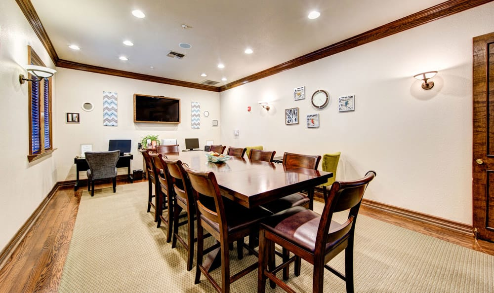 Family dining area of Marquis at Waterview in Richardson