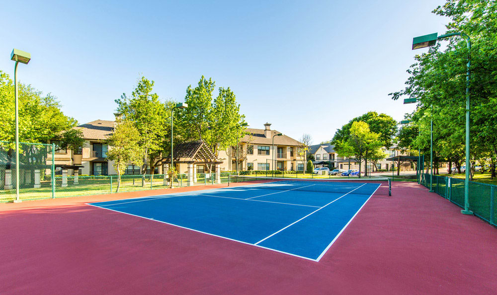 Tennis court at Marquis at Waterview in Richardson