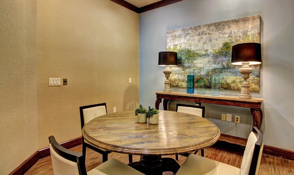 Apartment dining area at Marquis at The Woodlands