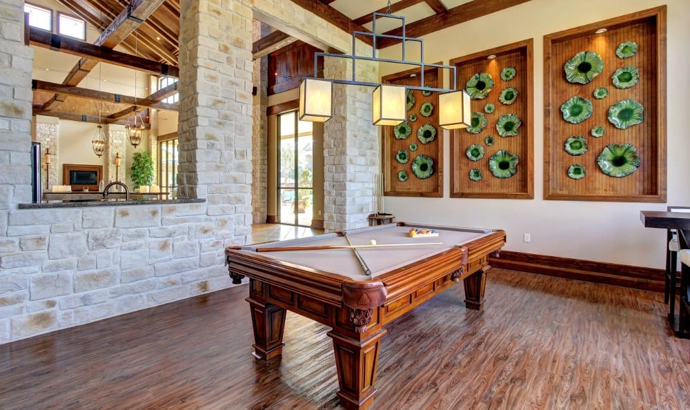 Billiards in the clubhouse at Marquis at The Woodlands