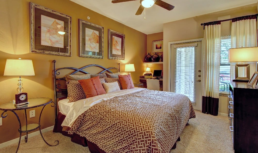 Relax at night in your spacious bedroom at Marquis at Sugar Land in Sugar Land, Marquis at Sugar Land