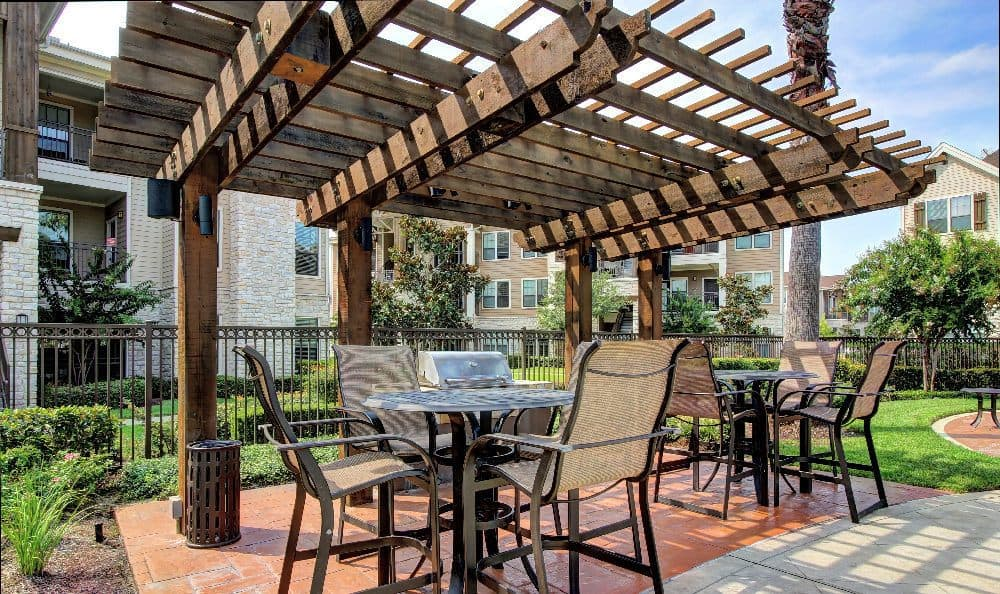 Outdoor patio at Marquis at Sugar Land
