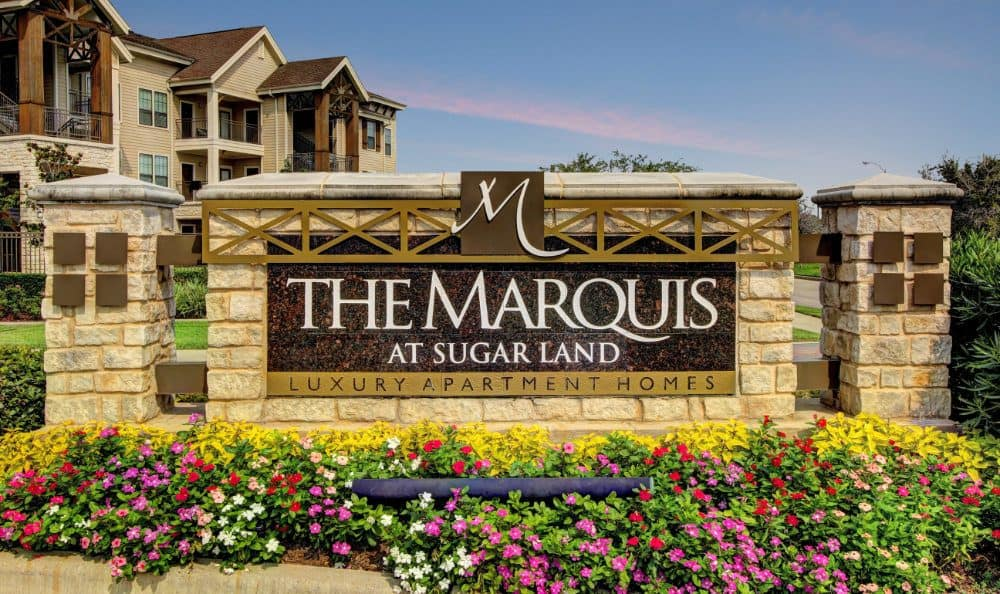 The Entrance sign at Marquis at Sugar Land in Sugar Land, Marquis at Sugar Land