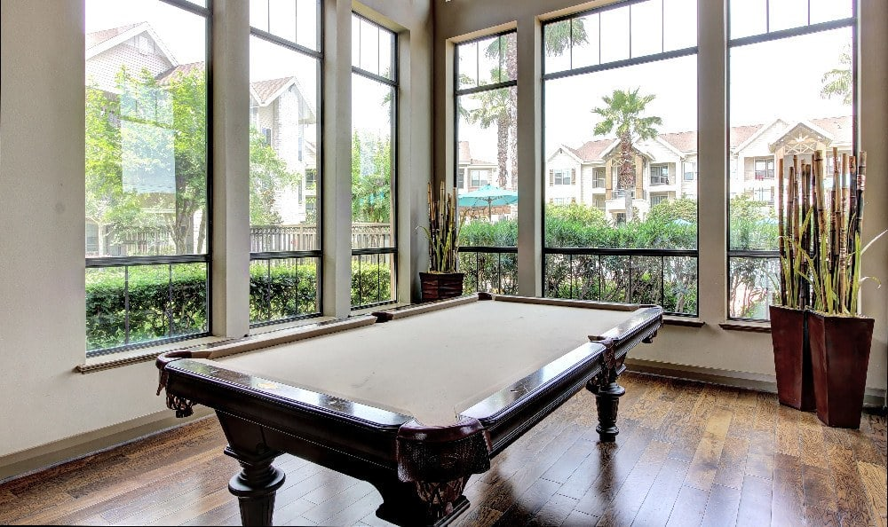 Billiards in the clubhouse at Marquis at Sugar Land in Sugar Land, Marquis at Sugar Land