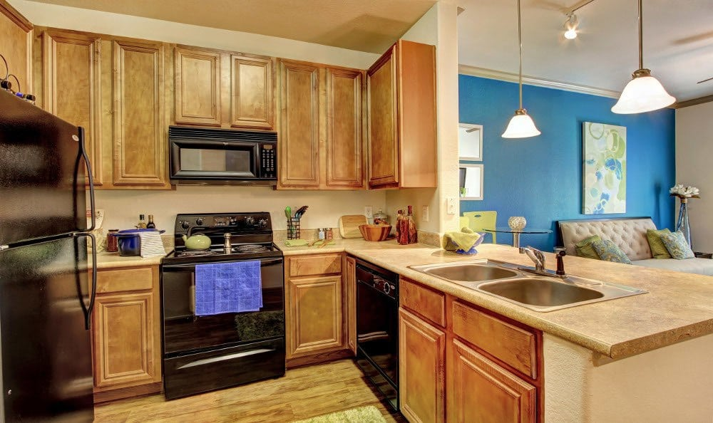 Enjoy the modern kitchen at The Marquis at Clear Lake in Webster, The Marquis at Clear Lake