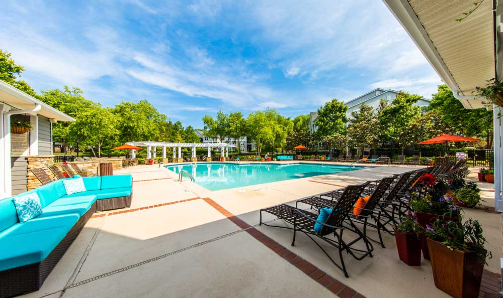 Swimming pool at Marquis on Cary Parkway
