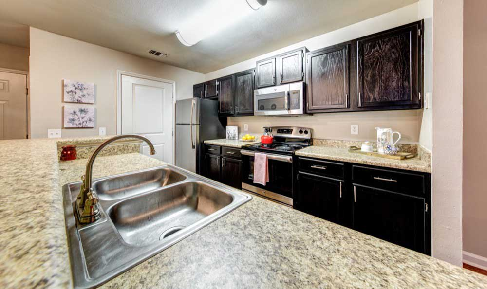 Model kitchen at Marquis on Cary Parkway