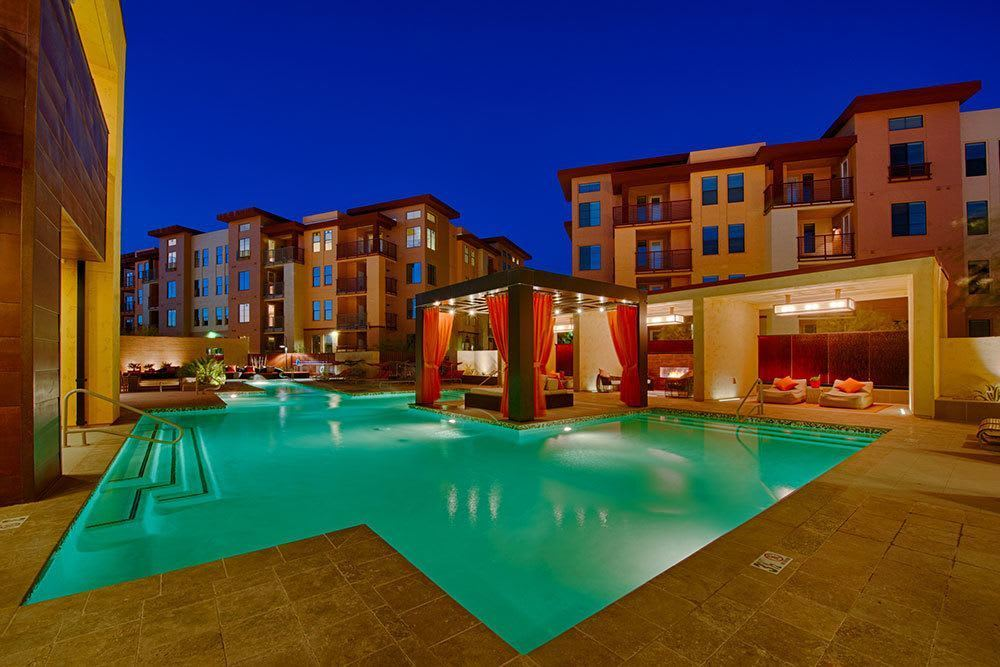 A view of the expansive swimming pool at Marquis at Desert Ridge