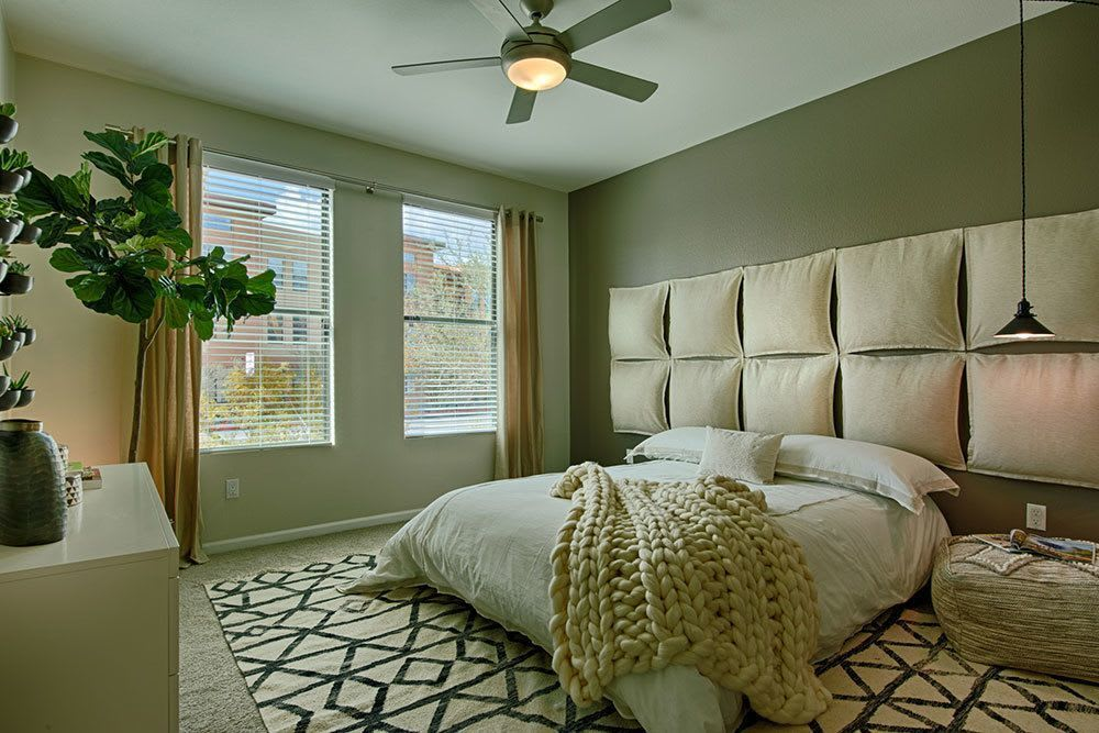 Floor plans featuring large luxurious bedrooms at Marquis at Desert Ridge