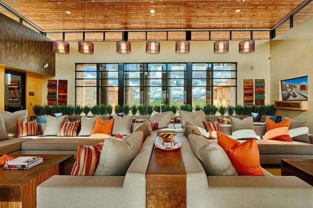 The great room at our private community clubhouse at Marquis at Desert Ridge