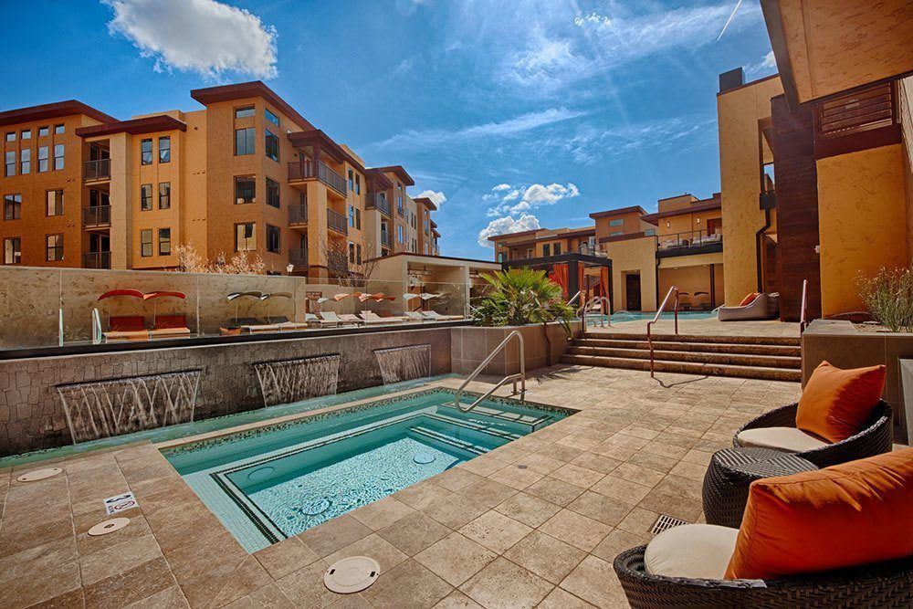 Pool and spa at Marquis at Desert Ridge in Phoenix, AZ