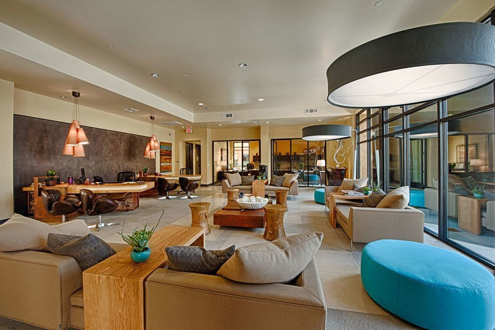 Relax in the comfortable common spaces at Marquis at Desert Ridge