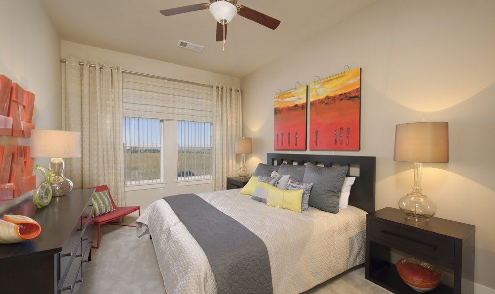 elegant bedroom at The Marq at Ridgegate in Lone Tree, CO