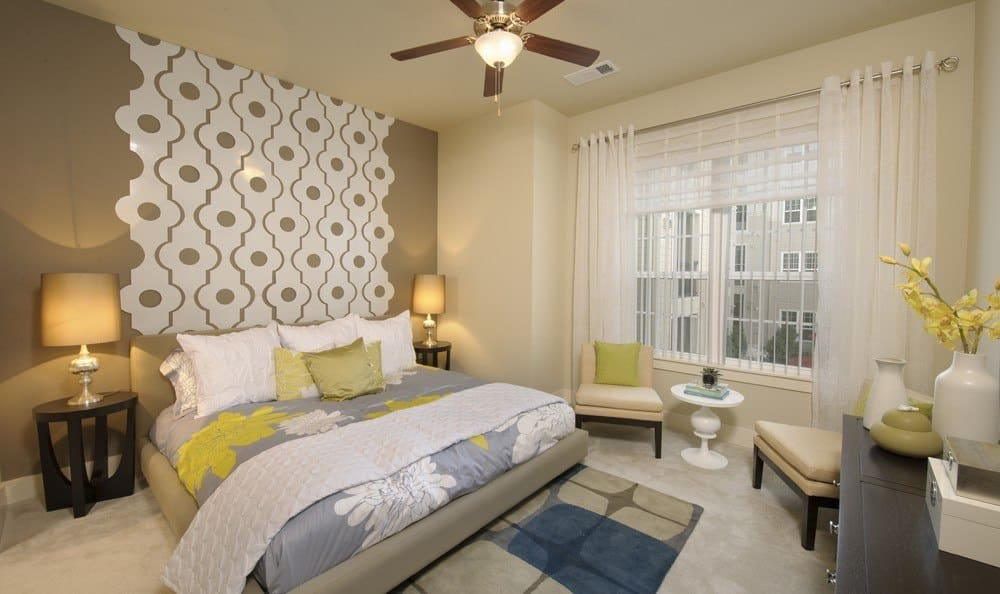 well decorated and spacious bedroom at The Marq at Ridgegate in Lone Tree, CO