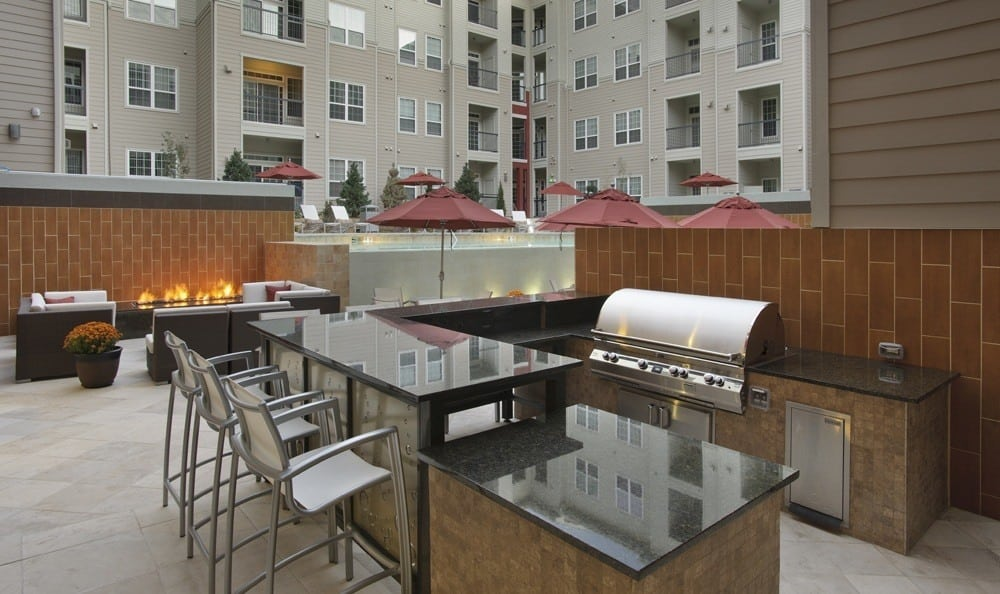 grilling area at The Marq at Ridgegate in Lone Tree, CO