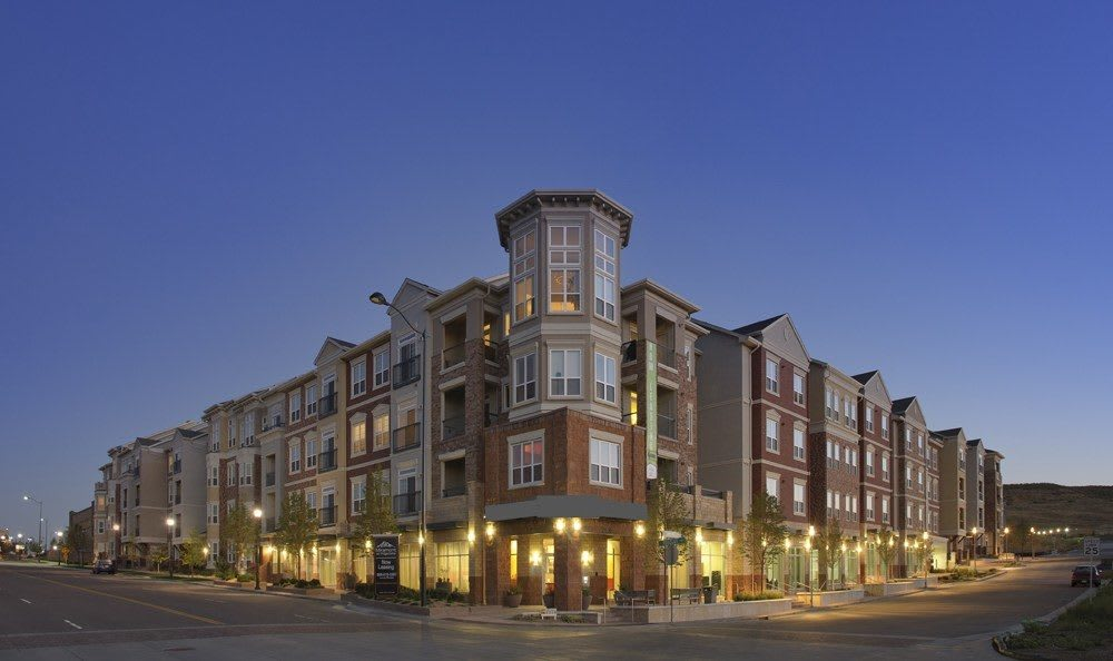 Exterior view of The Marq at Ridgegate in Lone Tree, CO