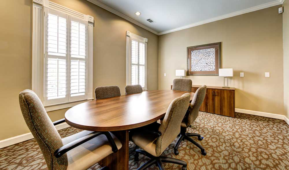 Conference room at apartments in Brookhaven