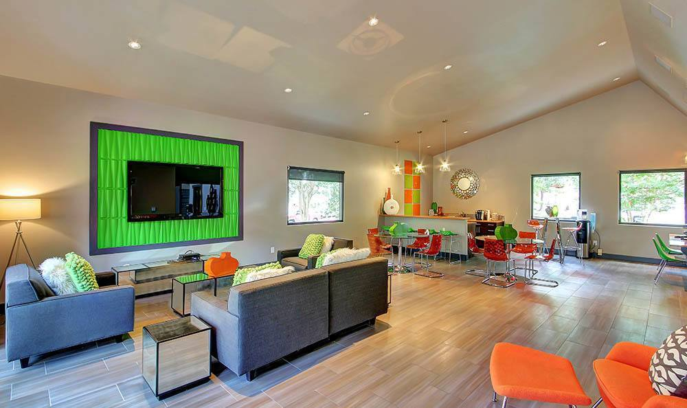 Enjoy time at the residents lounge at Marquis at Great Hills in Austin, TX