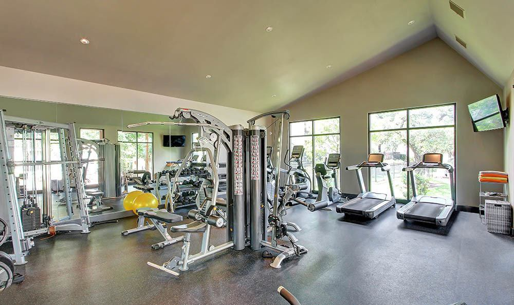 Fitness center at Marquis at Great Hills in Austin, TX