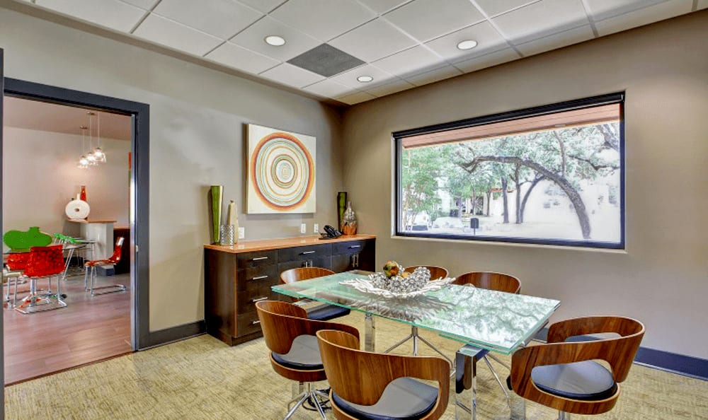Study room at Marquis at Great Hills in Austin, TX