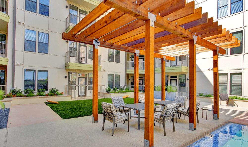 The 704's patio