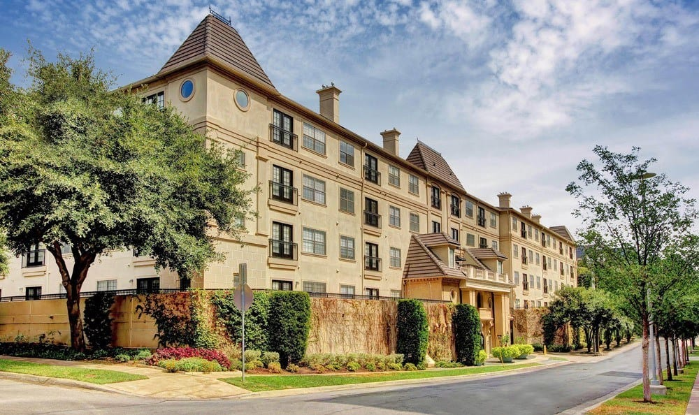 Exterior of the building at Marquis at Turtle Creek in Dallas, TX