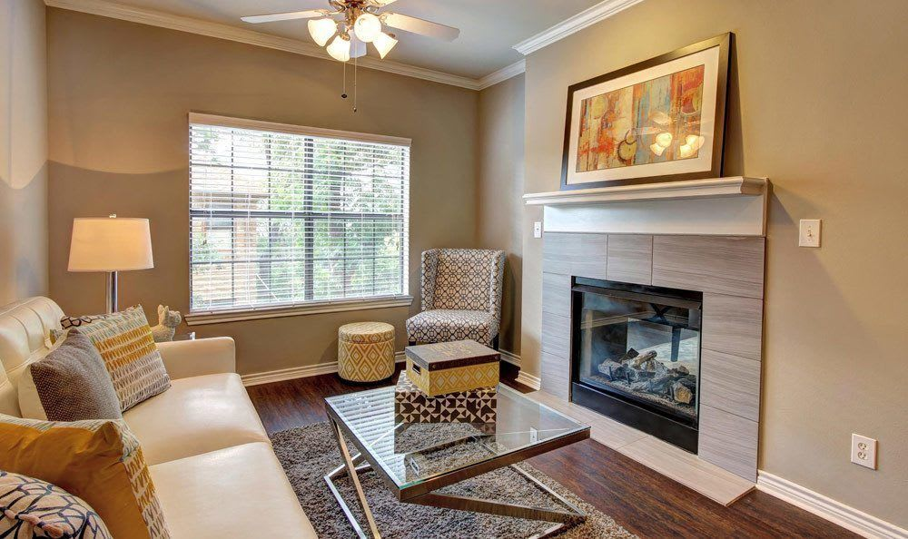 Spacious living room at Marquis at Turtle Creek