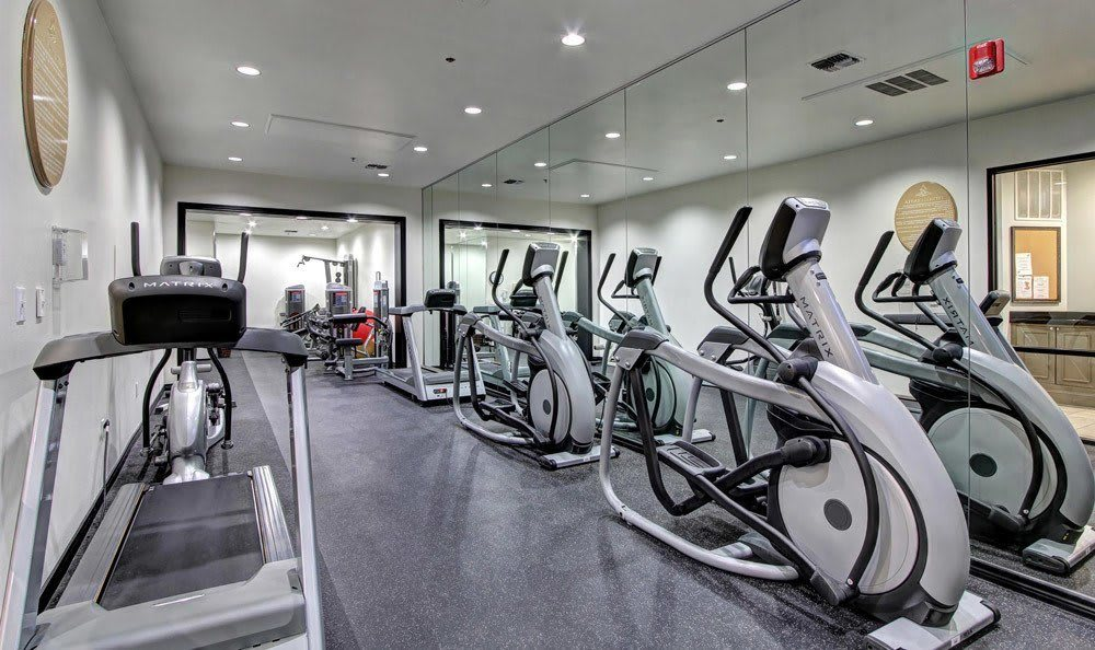 Fitness center at Marquis at Turtle Creek in Dallas, TX