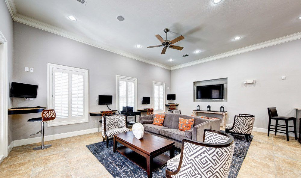 Spacious living room at Marquis at Silver Oaks in Grapevine, TX
