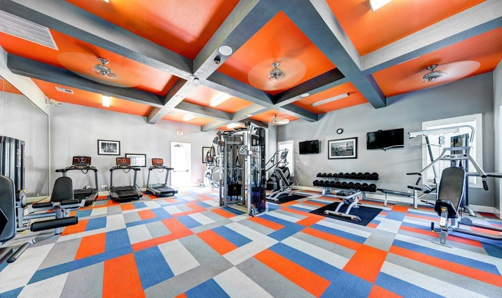 Fitness center at Marquis at Silver Oaks in Grapevine, TX