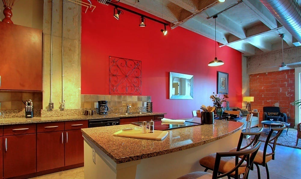 Kitchen at The Marquis Lofts at Hermann Park in Houston, TX