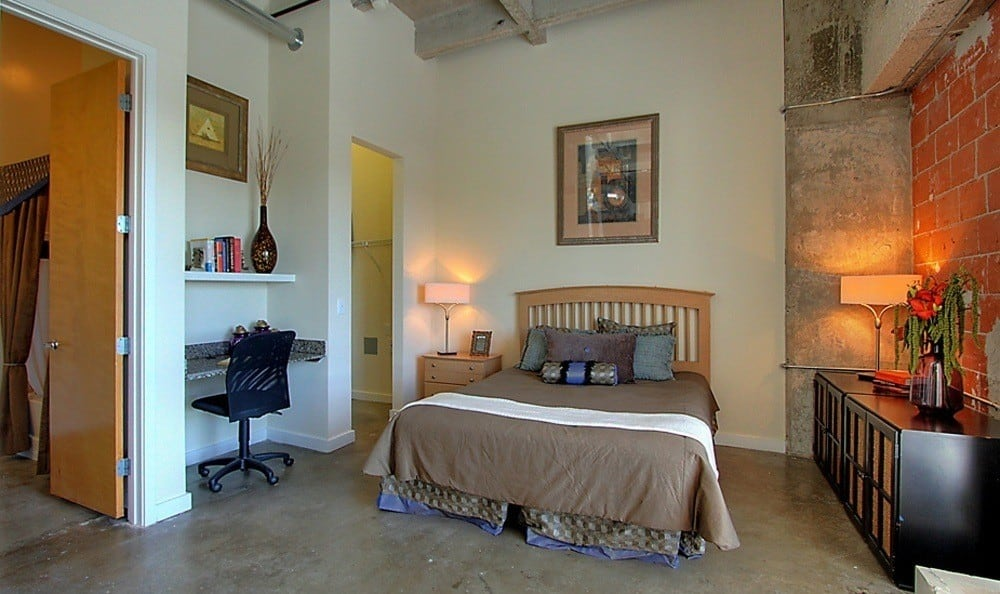 Bedroom at The Marquis Lofts at Hermann Park in Houston, TX