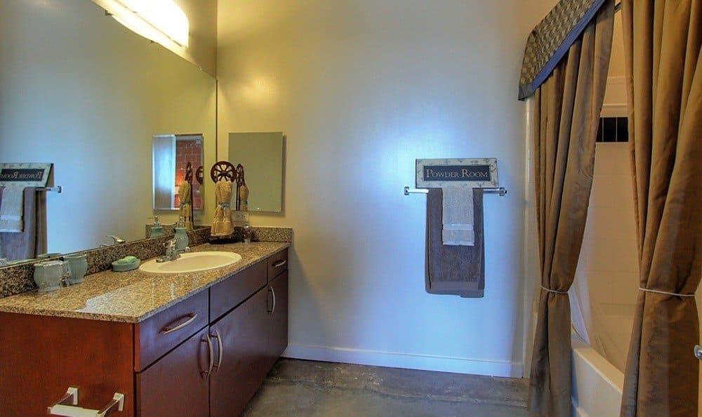 Bathroom at The Marquis Lofts at Hermann Park in Houston, TX