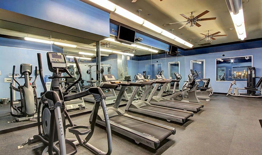 Fitness center at The Marquis Lofts at Hermann Park in Houston, TX