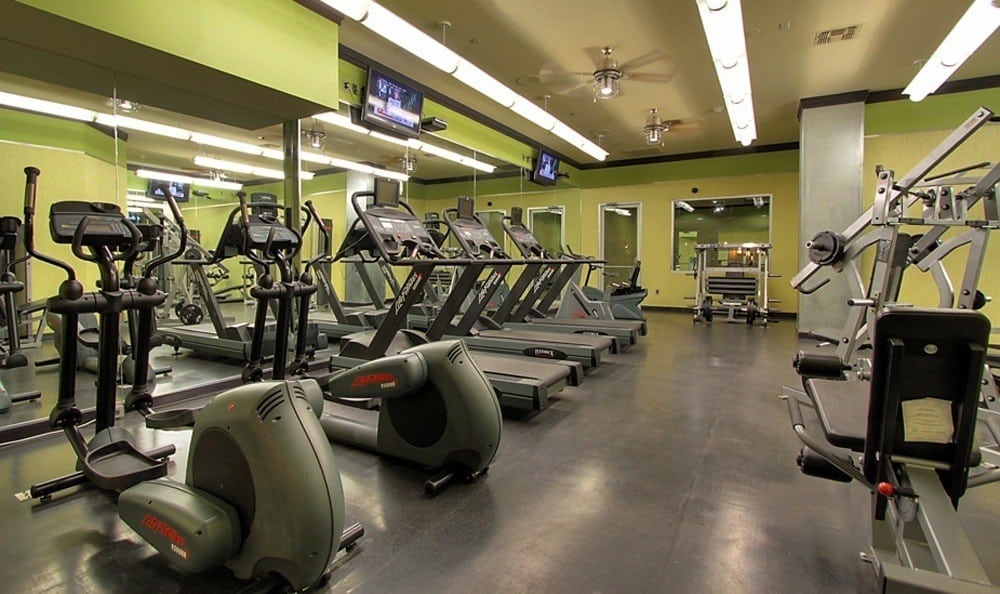 The Marquis Lofts at Hermann Park's fitness center in Texas