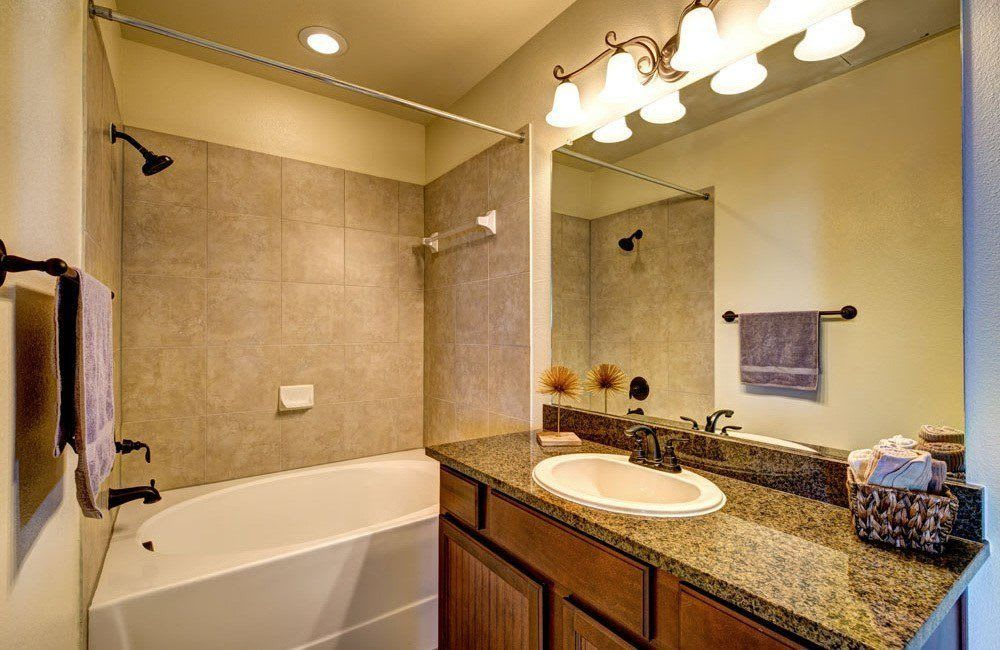 Bathroom at Marquis at Star Ranch in Hutto, TX