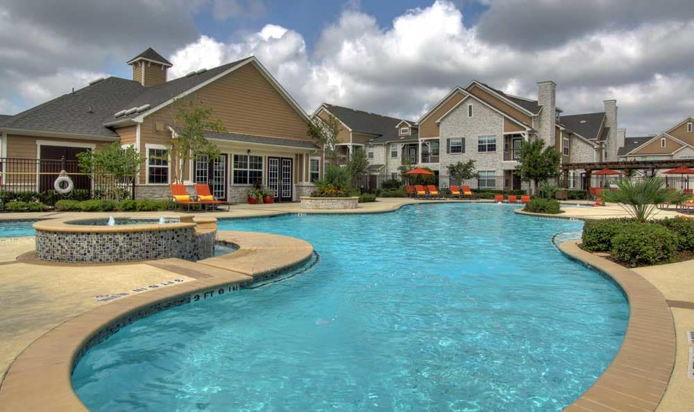 Pool at apartments in Katy