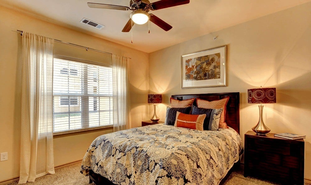 Well decorated bedroom at The Vista in Texas
