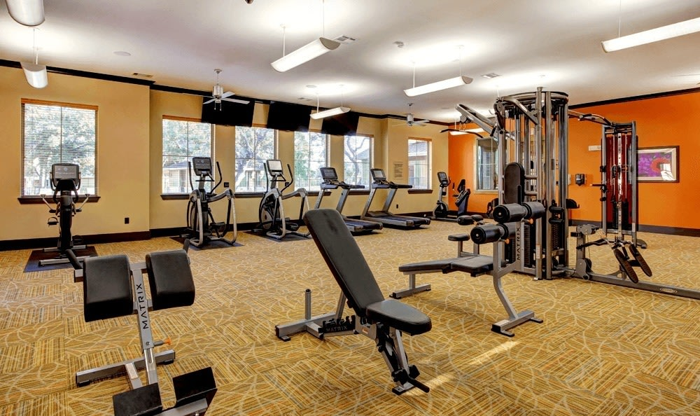 Fitness center at The Vista in San Antonio, TX
