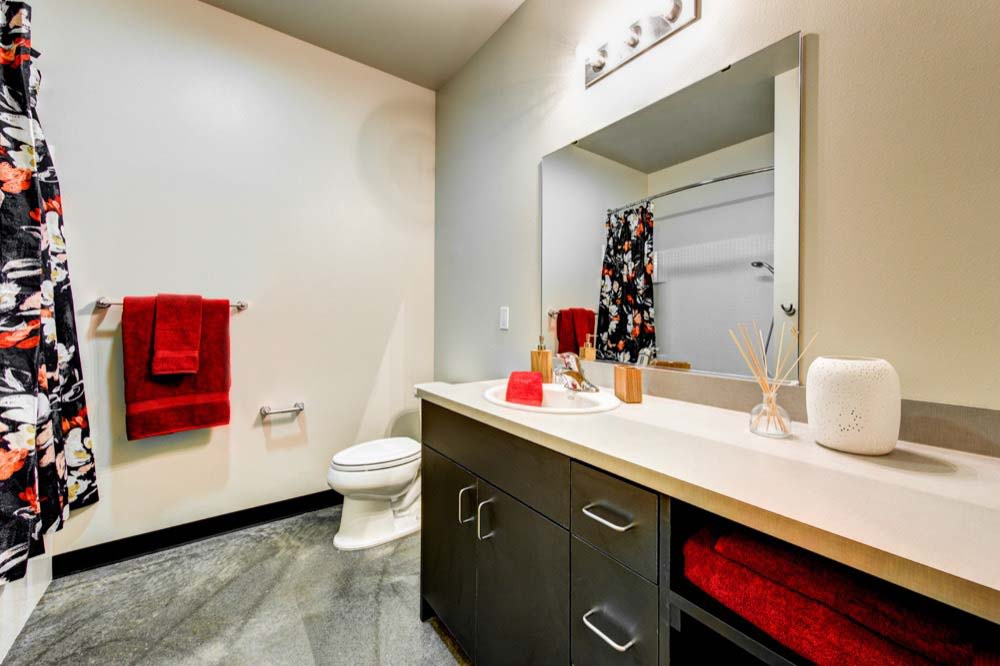 Example bathroom at apartments in Seattle