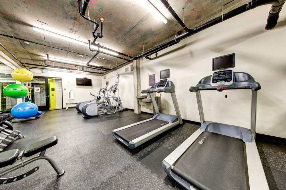 Another angle of the fitness center at Anthem on 12th