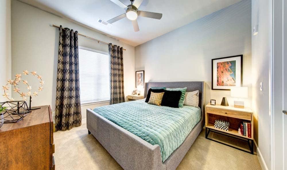 Model bedroom at Marq 31 in Houston, TX