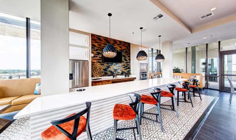 Apartments in Houston features a clubhouse kitchen