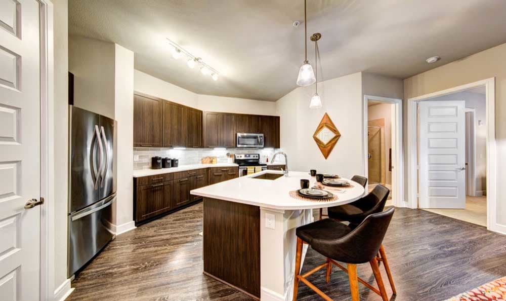 Bright kitchen at Marq 31 in Houston, TX