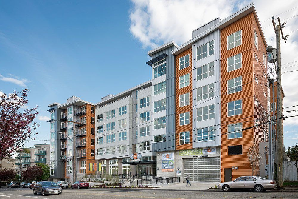Exterior view of our Seattle apartment community at Marq West Seattle
