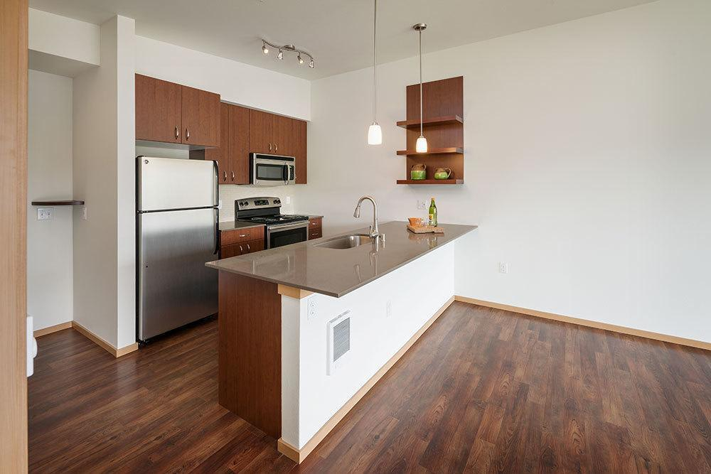 Designer kitchen at Marq West Seattle