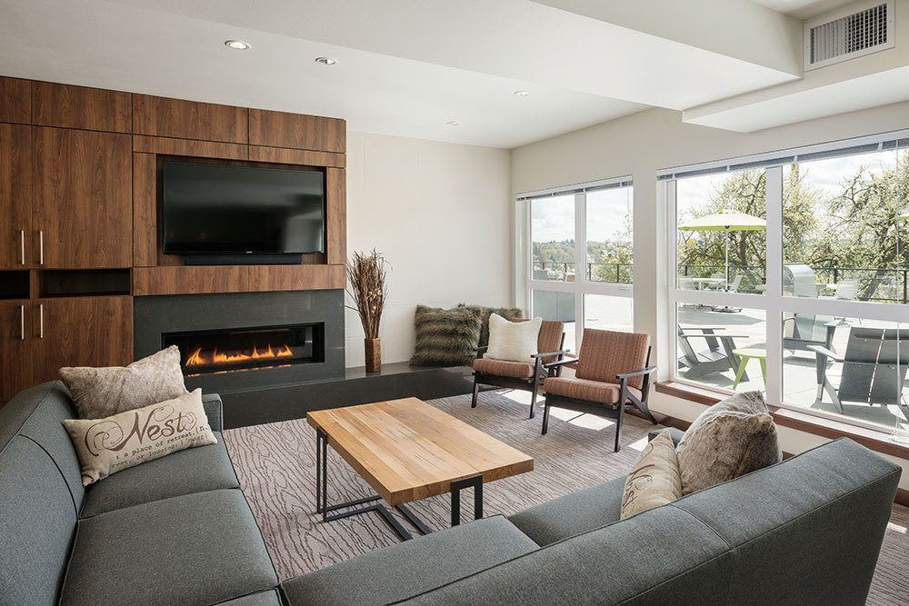 Elegant clubhouse apartment at Marq West Seattle.