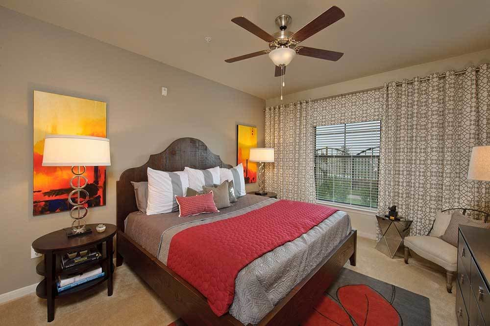 well decorated bedroom at Marquis at the Reserve in Katy, TX