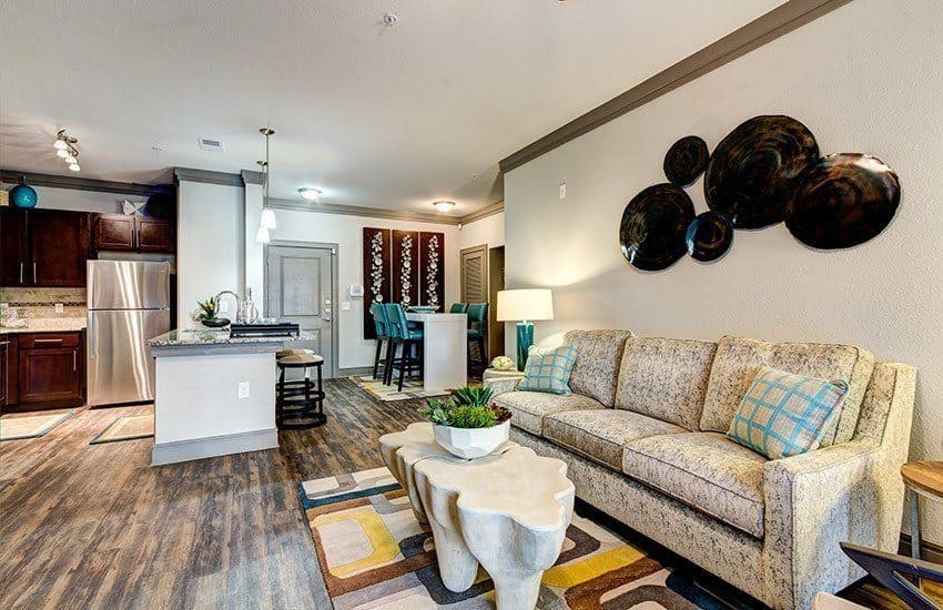 Living room at The Marq at Weston in Morrisville, NC
