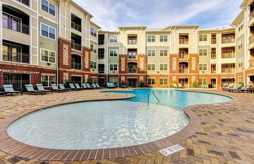 Swimming pool at The Marq at Weston in Morrisville, NC